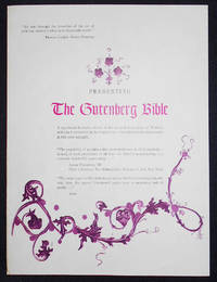 image of Prospectus for the Cooper Square Facsimile of the Gutenberg Bible