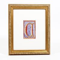 """Illuminated Manuscript: Large Initial """"C"""