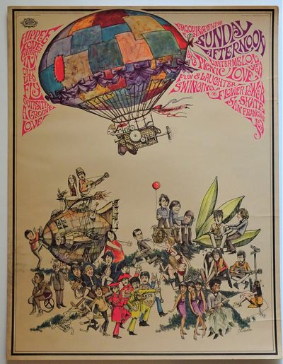 San Jose, CA: Soarta Graphics, 1967. SCARCE original offset lithograph poster with fluorescent inks,...