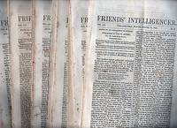 """EIGHTEEN (18) ISSUES OF """"FRIENDS' INTELLIGENCER ISSUED IN 1855.  Edited by an Association of Friends"""
