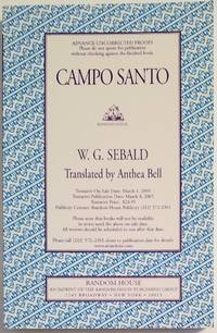 CAMPO SANTO. Translated by Anthea Bell