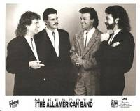 PROFESSIONAL PHOTOGRAPH  OF MIKE SCOTT AND THE ALL-AMERICAN BAND:; American country performers,...