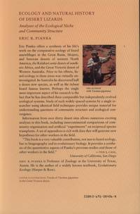 image of Ecology and Natural History of Desert Lizards