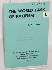 The world task of pacifism