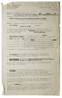 """Contract signed (""""J.D. Salinger""""), granting Portuguese-language publishing rights for The Catcher in the Rye to Livros do Brasil (Lisbon)"""