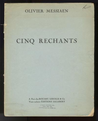 Paris: Rouart, Lerolle & Cie , 1949. Folio. Original publisher's light blue printed wrappers with pu...