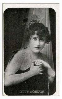 image of Movie Star Kitty Gordon 1917 Kromo Gravure Photo
