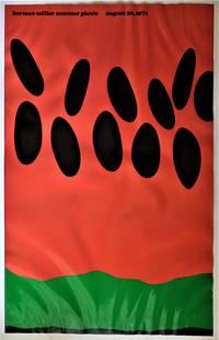 Original Midcentury Modern Herman Miller Summer Company Picnic Series Watermelon Poster 1971