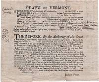 ARREST WARRANT & JUDGMENT AGAINST A LANCASTER, NEW HAMPSHIRE MAN, ISSUED BY THE SHERIFF OF CALEDONIA COUNTY, VERMONT IN 1799