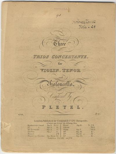 London: Clementi & Co, 1827. Folio. Disbound. Violino: (title), 2-10, (blank) pp.; Viola: (title), 2...