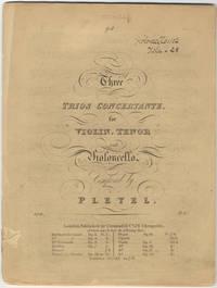 [B. 401-403]. Three Trios Concertante, for Violin, Tenor [i.e., Viola] and Violoncello... Op. 11. Pr. 6/_. [Parts]