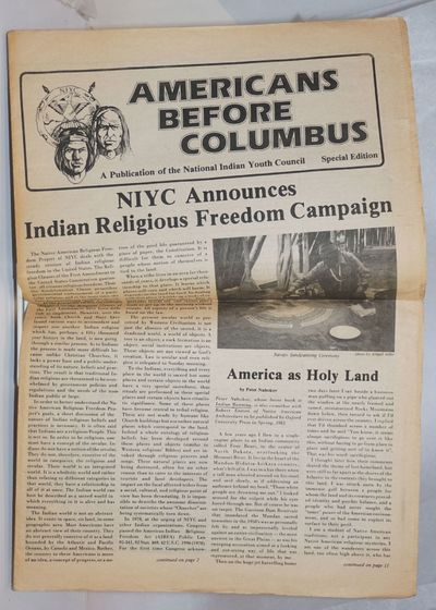 Albuquerque: National Indian Youth Council, . Tabloid-format newspaper, 16 pages, horizontal fold, p...