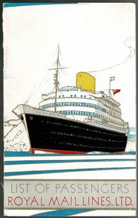 image of R.M.S. Andes: List of Passengers March 1952 Southampton to Buenos Aires