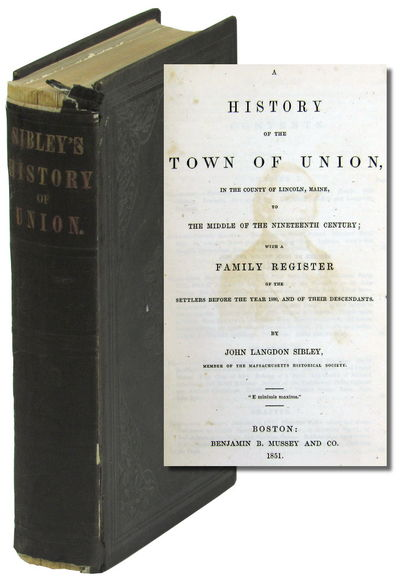 Boston: Benjamin B. Mussey and Company, 1851. Hardcover. Very good. ix, 517pp+ index. Foxing to prel...