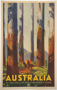 image of 'Australia.  The Tallest Trees in the British Empire - Marysville, Victoria'.  Color Travel Poster