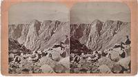 STEREOSCOPIC VIEW,  SUMMIT OF PIKE'S PEAK--THE CRATER.  Scenes on the Line of the Denver & Rio Grande Railway