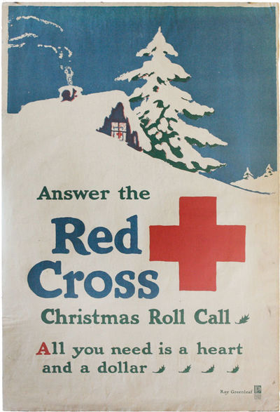 American Red Cross, 1918. 20 x 29.5 inches (51 x 75 cm). Condition B - soil, light edge-chips and cr...