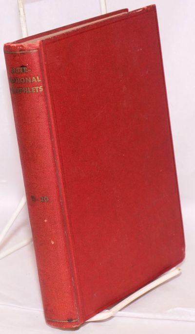 New York: International Pamphlets, 1932. Hardcover. Single volume, various paginations, original red...