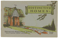 Distinctive Homes.  A Collection of the Latest Designs Comprising Two-Story Houses and Bungalows of Five to Ten Rooms.