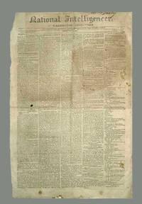 image of National Intelligencer Newspaper, May 19, 1809 (John Adams)