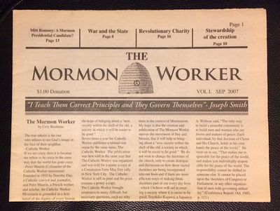 Woodland Hills, Utah, 2007. First issue of the anarchist, pacifist Mormon newspaper, inspired by the...