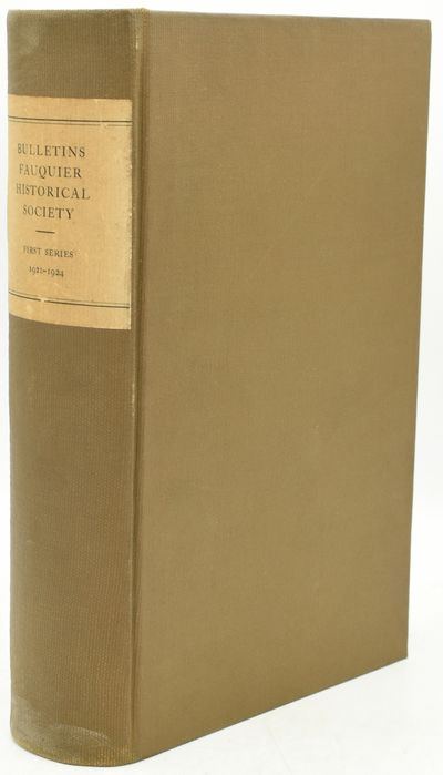 Richmond, VA: Old Dominion Press, Inc, 1924. Large 8vo.; rebound in brown cloth with paper title lab...