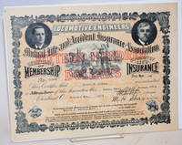image of Certificate of Membership and Policy of Life Insurance. Fifteen Hundred Dollars [certificate]