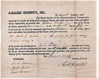 CHARGE OF LARCENY AGAINST AN AFRICAN-AMERICAN WOMAN FOR STEALING TEN YARDS OF CLOTH:  Dated August, 1831