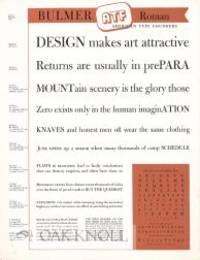 Elizabeth, NJ: American Type Foundry, n.d.. Type Specimens. broadside (8 1/2 x 11 inches) printed on...