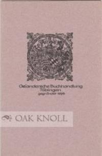 Tübingen: Osiandersche Buchhandlung, 1969. paper wrappers. Osiandersche. small 8vo. paper wrappers....