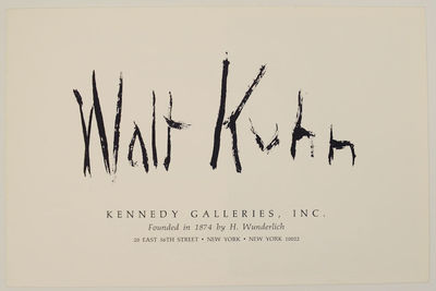 New York: Kennedy Galleries, Inc, 1967. First edition. Exhibition brochure for a show that October 1...