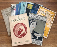 The Occident, 10 issues, literary journal of the University of California. Scattered group,...