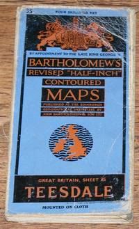"""image of Teesdale - Bartholomew's Revised """"Half-Inch"""" Contoured Maps, Great Britain Sheet 35"""