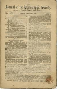 THE JOURNAL OF THE PHOTOGRAPHIC SOCIETY [OF LONDON]