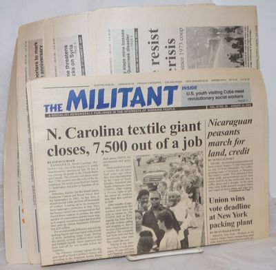 New York: The Militant, 2003. 12p., folded in half tabloid newspaper, a short run of 5 issues. Edge ...