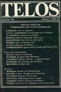 TELOS: Special Issue on Terrorism and State Terrorism, No. 54, Winter 1982-83