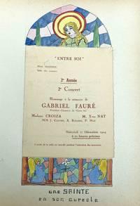 "Album of 24 concert programs for  the  chamber music soirees  "" Entre Soi."""