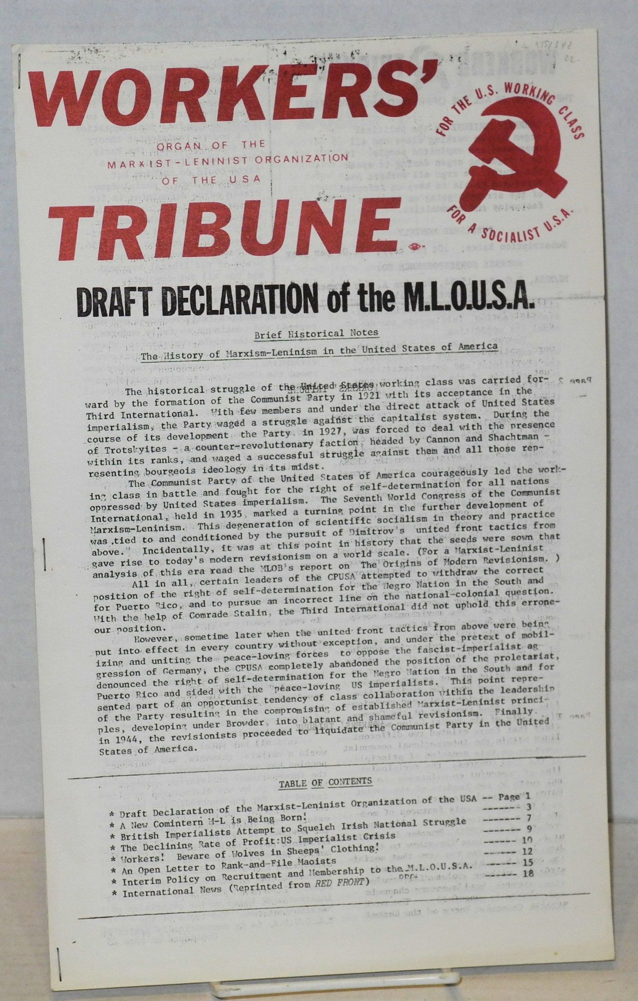 marxist draft In 1948, when i first had the good fortune to see one of the then very rare copies  of marx's rough draft/ it was clear from the outset that this was a work which.