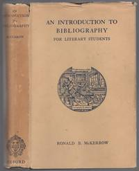 image of An Introduction to Bibliography for Literary Students
