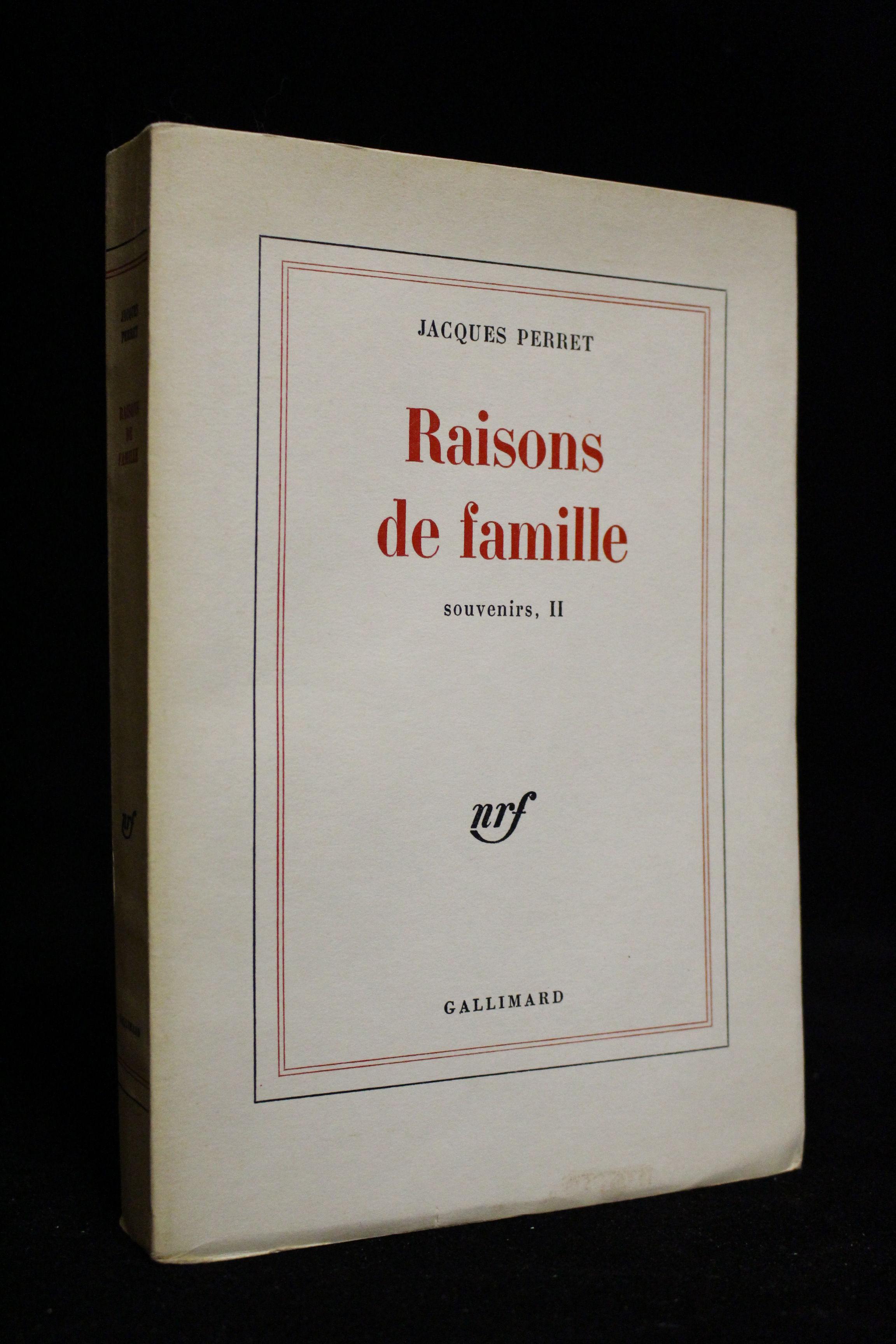 Raisons de famille souvenirs ii edition originale tirage de t te by perret jacques first - Photo de famille originale ...