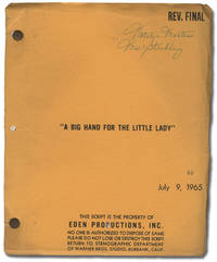 A Big Hand for the Little Lady (Original screenplay for the 1966 film)