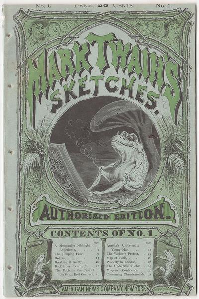 Mark Twain's Sketches. Authorised...