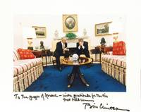 Photograph of Bill Clinton and Benjamin Netanyahu seated in the White House, signed and inscribed...