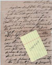 "HANDWRITTEN LETTER (ALS) FROM THIS CABIN BOY ABOARD A YANKEE WHALER   to N & WW Billings, datelined ""Western Isl, July the 16, 1835"