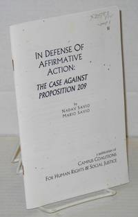 image of In Defense of Affirmative Action: The Case Against Proposition 209