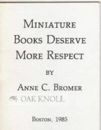 MINIATURE BOOKS DESERVE MORE RESPECT!