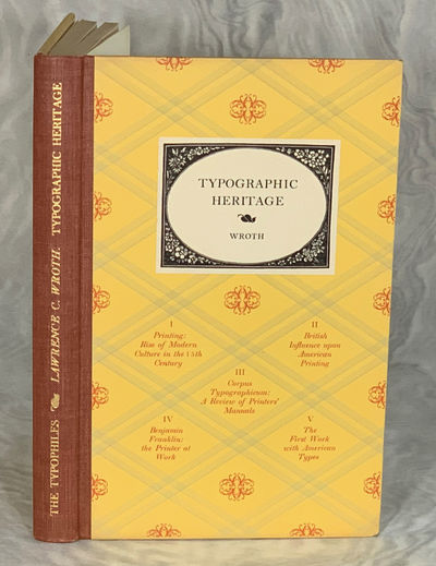 New York, NY: The Typophiles, 1949. Hardcover. Very Good. Series: Typophile Chapbook, No. XX. LIMITE...