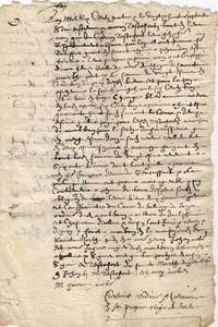 image of Notarial extract from their quitclaim of 1604, (Estienne and his son Marin, of Le Buis-les-Baronnies, southern Dauphiné, now in Drôme)