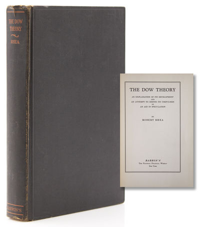 New York: Barron's, 1932. First edition. xi, , 252 pp. 8vo. Publisher's black cloth. Extremities rub...