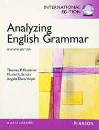 image of Analyzing English Grammar